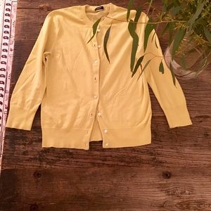 J.Crew Jackie yellow button up cardigan